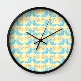 Trippy Wave Pattern Wall Clock