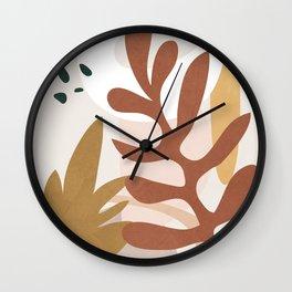 Abstract Plant Life II Wall Clock