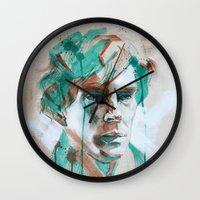 sherlock Wall Clocks featuring Sherlock by Dan Olivier-Argyle