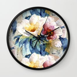 in jungle water color Wall Clock