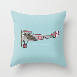 Biplane Throw Pillow