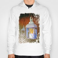lanterns Hoodies featuring White lanterns by LaDa