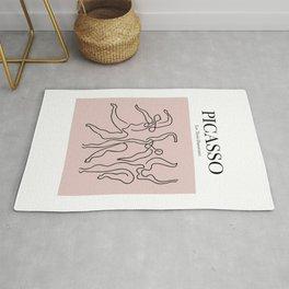Picasso - Les Trois Danseuses (Pink) Rug