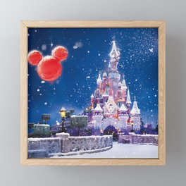 Winter fairy tale Framed Mini Art Print