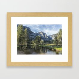 Yosemite Falls from Cook's Meadow Framed Art Print