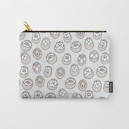 HEDGEHOG PATTERN BEIGE Carry-All Pouch