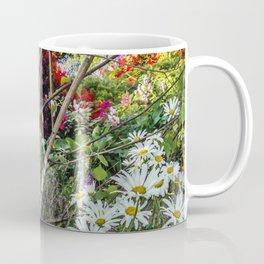 Rural landscape with a birch tree Coffee Mug