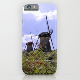 Two sisters at Kinderdijk iPhone Case