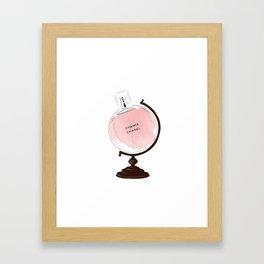 Red Perfume Globus Framed Art Print
