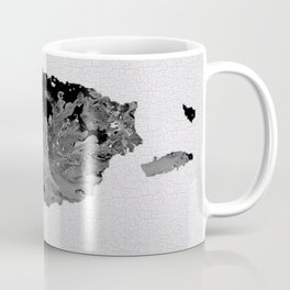 Black and White Art Puerto Rico Map Coffee Mug
