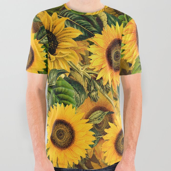 Vintage_&_Shabby_Chic__Noon_Sunflowers_Garden_All_Over_Graphic_Tee_by_Vintage_&_Love__Large