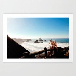 Beaches Unkown at Big Sur California Art Print
