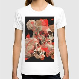 MACABRE BLOOD & SKULLS BLACK  ART T-shirt