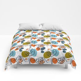 Pattern in Nordic Floral Style #8 Comforters