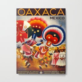 Oaxaca Mexico Vintage Travel Metal Print