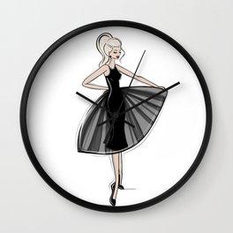 Little Black Panel Dress Wall Clock