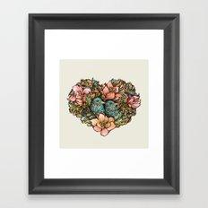 Bluebird Valentine Framed Art Print
