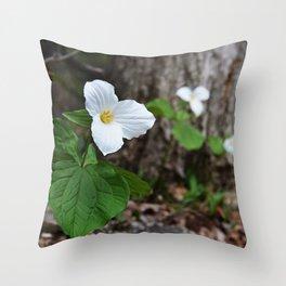Trilliums  Throw Pillow