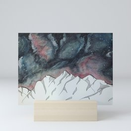 Mountains Ranges and Seas of Stars Mini Art Print