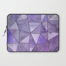 Purple Lilac Glamour Shiny Stained Glass Laptop Sleeve