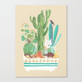 Desert planter Canvas Print