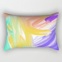 Abstract 2 Painting in Oil Rectangular Pillow