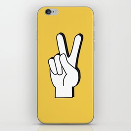 Peace Sign yellow iPhone Skin