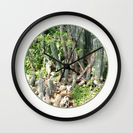 Cactus Land Wall Clock