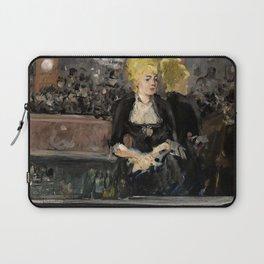 """Édouard Manet """"First version of Le Bar aux Folies Bergère"""" Laptop Sleeve"""