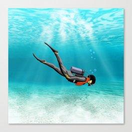 S.C.U.B.A. Diver Canvas Print