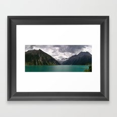 Schlegeis Lake, Austria | Panorama Framed Art Print