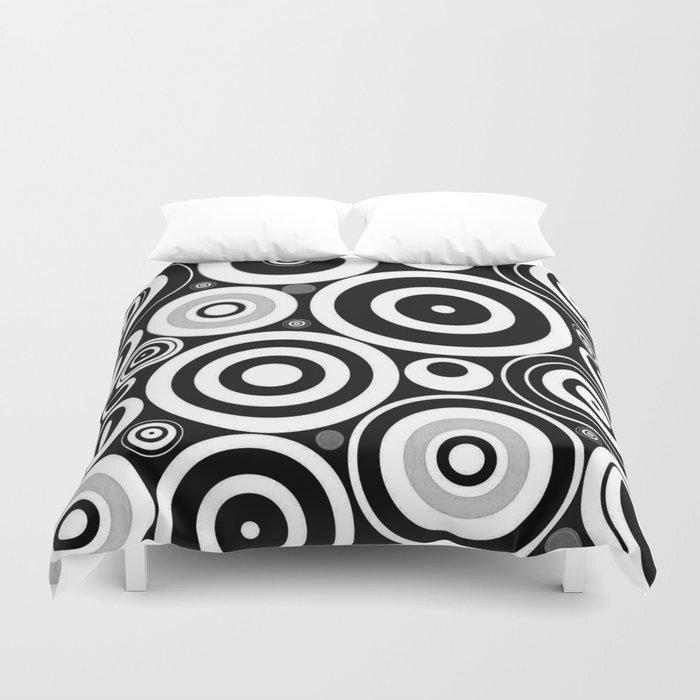 Black and white Circles Duvet Cover