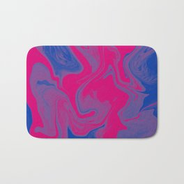 Bisexual Pride Abstract Marbled Colors Bath Mat