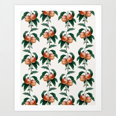 Peach Pattern Art Print