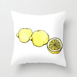 Trois Citrons 2 Throw Pillow
