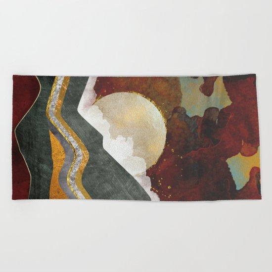 Red Sky Beach Towel