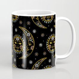 Celestial pattern in tribal style and ethnic motif Coffee Mug