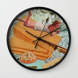 Money Can't Buy You Happiness, But It Can Buy You Cheese Wall Clock