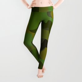 Camo-licious Collection: Gorgeous Green Camouflage Pattern Leggings