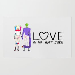 LOVE is no BUTT Joke - Handwritten Rug