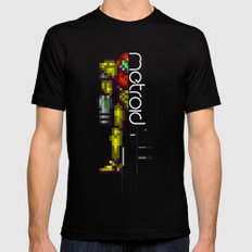 Metroid Black Mens Fitted Tee MEDIUM
