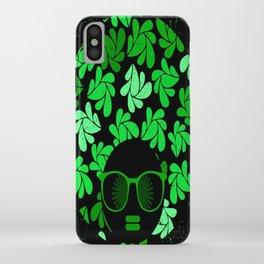 Afro Diva : Green & Black iPhone Case