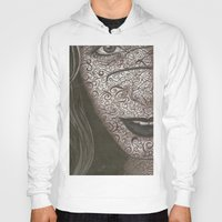 no face Hoodies featuring Face  by Kate Allison