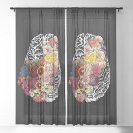 Love Your Brain Sheer Curtain