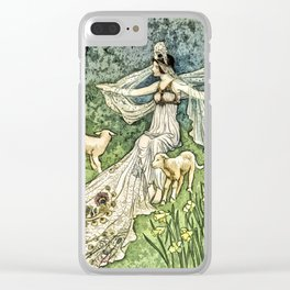 Fairy in the Meadow Clear iPhone Case