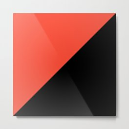 Black , orange , triangles Metal Print