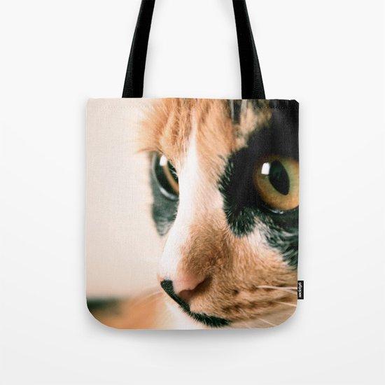 Thinking Cat Tote Bag