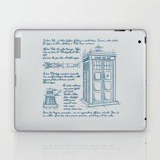 Tardis Plan Laptop & iPad Skin