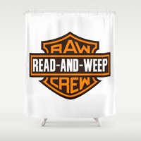 monster inc Shower Curtains featuring RAW INC  by rawinc