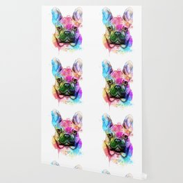 French bulldog Watercolor Wallpaper